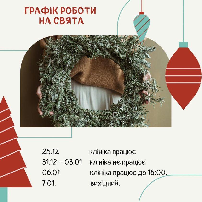 Розклад роботи на Новорічні свята